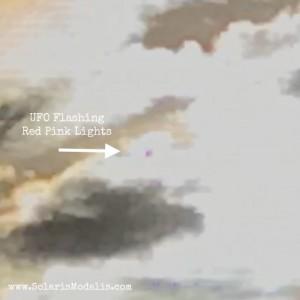 Daytime UFOs Flashing Red Pink Lights, Solaris Modalis